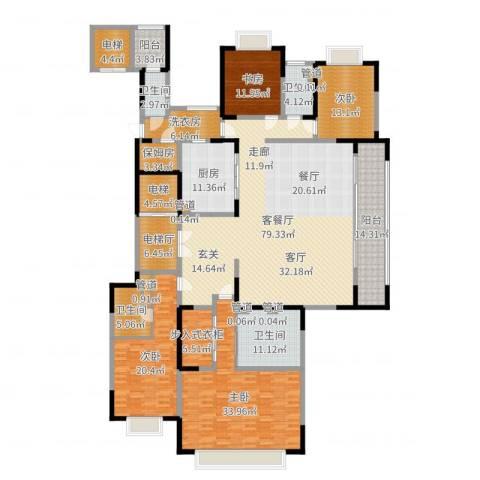 西派国际4室2厅4卫1厨303.00㎡户型图