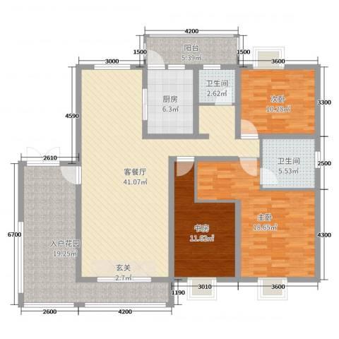乐仙小镇3室2厅2卫1厨138.00㎡户型图