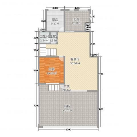乐仙小镇1室2厅1卫1厨236.00㎡户型图
