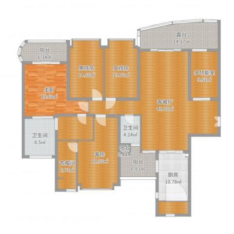 雅居乐世纪新城1室2厅2卫1厨238.00㎡户型图