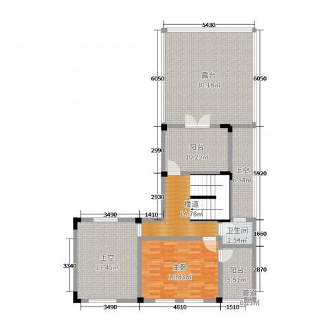 中冶南方韵湖首府1室0厅1卫0厨170.00㎡户型图