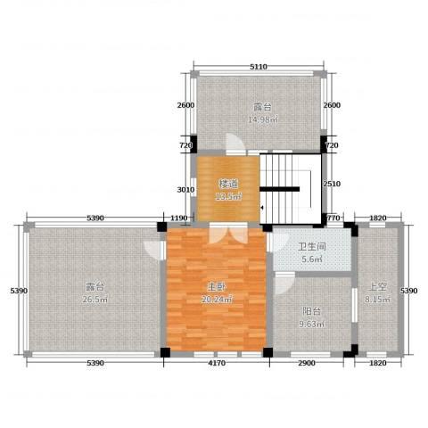 中冶南方韵湖首府1室0厅1卫0厨237.00㎡户型图