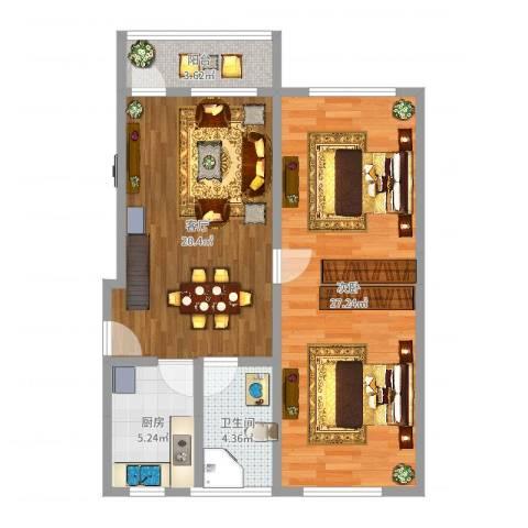菜花泾小区1室1厅1卫1厨76.00㎡户型图