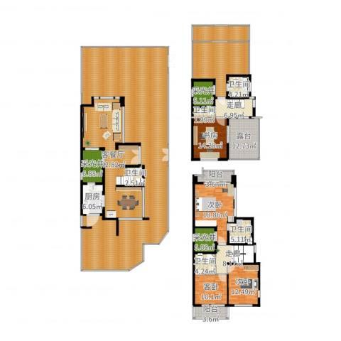 张江汤臣豪园别墅4室2厅5卫1厨414.00㎡户型图