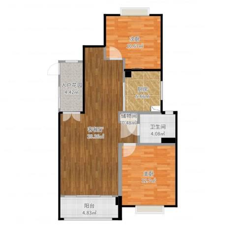 金地格林世界圣莫尼卡-942室2厅1卫2厨90.00㎡户型图