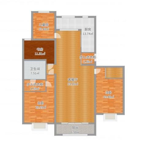 容辰庄园东区4室2厅1卫1厨200.00㎡户型图