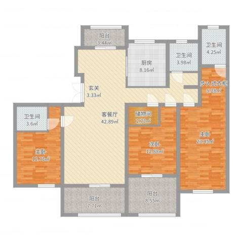 海上纳缇3室2厅3卫1厨168.00㎡户型图