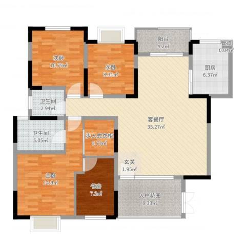 绿地半山国际花园4室2厅2卫1厨134.00㎡户型图