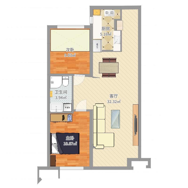 房间平面3