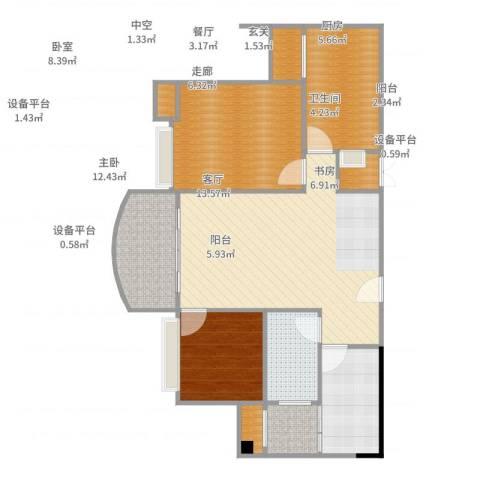 碧桂园凰城2室2厅1卫1厨102.00㎡户型图