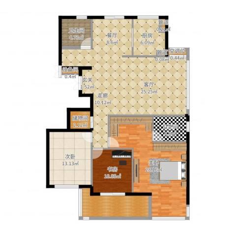 盛世香园3室2厅5卫2厨160.00㎡户型图