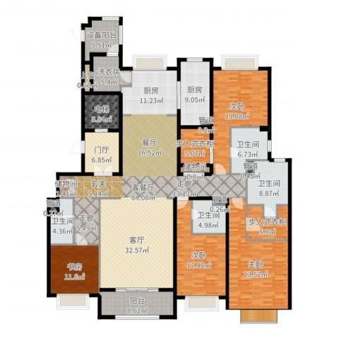 绿洲雅宾利花园三期4室2厅4卫1厨299.00㎡户型图