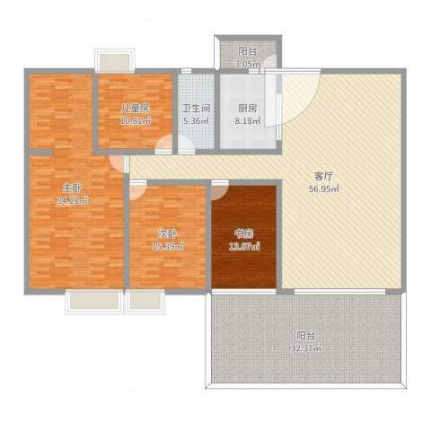 碧桂园凤凰城凤锦苑4室1厅1卫1厨224.00㎡户型图