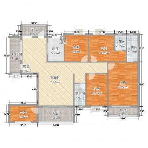 蟠龙御景苑5室2厅3卫1厨177.00㎡户型图