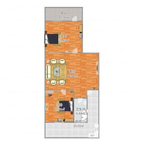 玉函小区2室1厅1卫1厨164.00㎡户型图