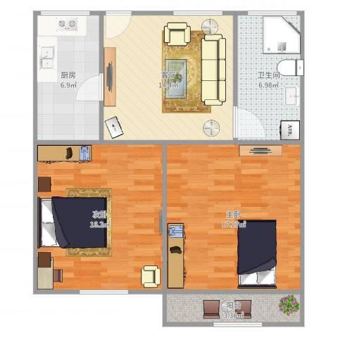 延吉东路1312室1厅1卫1厨81.00㎡户型图