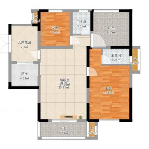 天明城2室1厅5卫1厨111.00㎡户型图
