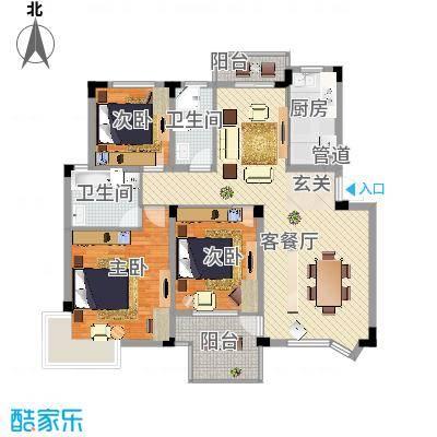 繁华世家户型3室-副本