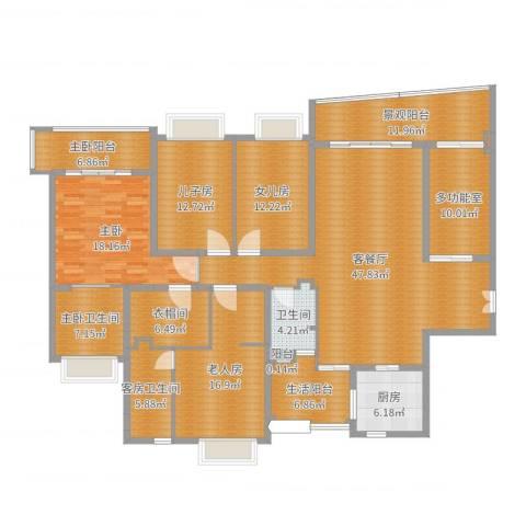 雅居乐世纪新城2室2厅1卫1厨217.00㎡户型图