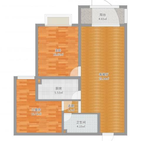 宣化御府天苑10-2-1022室2厅1卫1厨89.00㎡户型图
