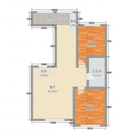 红日・城市假日花园2室1厅1卫0厨100.00㎡户型图