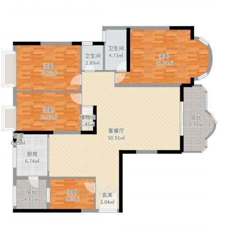 逸景翠园御华轩4室2厅2卫1厨173.00㎡户型图