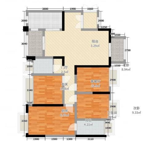 逸境新城4室2厅2卫1厨136.00㎡户型图