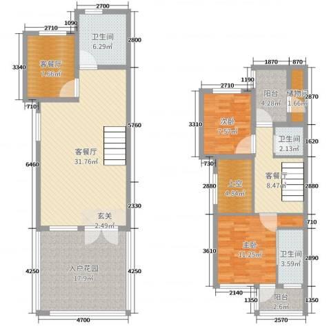 华威三十七英里2室6厅3卫0厨138.00㎡户型图