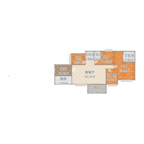 保利生态城4室2厅3卫1厨171.00㎡户型图