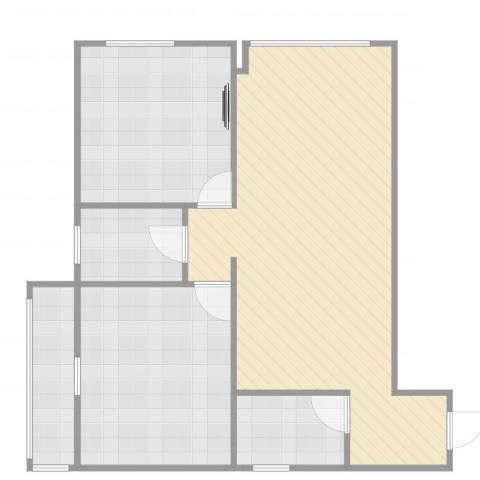 百花家园2室1厅1卫1厨78.00㎡户型图