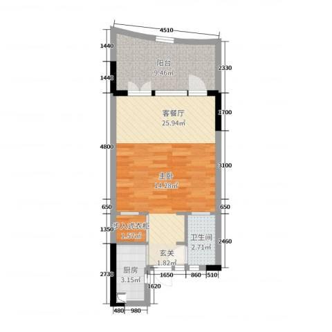 御泉庄2厅1卫1厨65.00㎡户型图