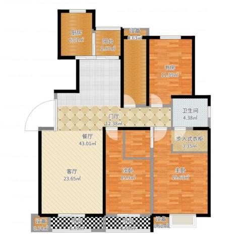 高科尚都3室1厅1卫1厨146.00㎡户型图