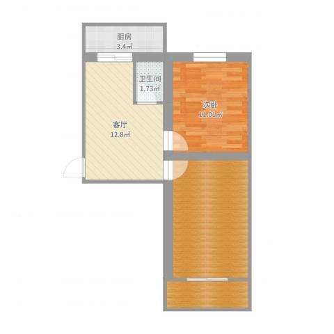 联强小区1室1厅1卫1厨59.00㎡户型图