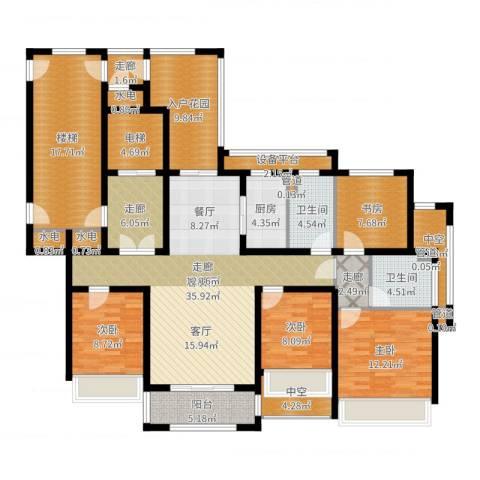 凯瑞米兰公馆4室2厅2卫1厨182.00㎡户型图