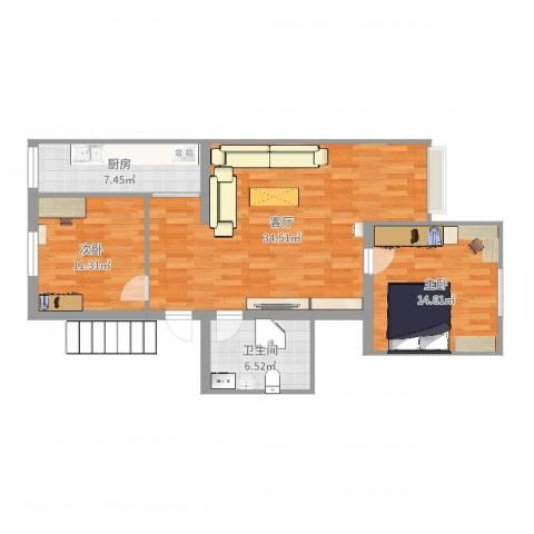 天通苑东三区2室1厅1卫1厨93.00㎡户型图