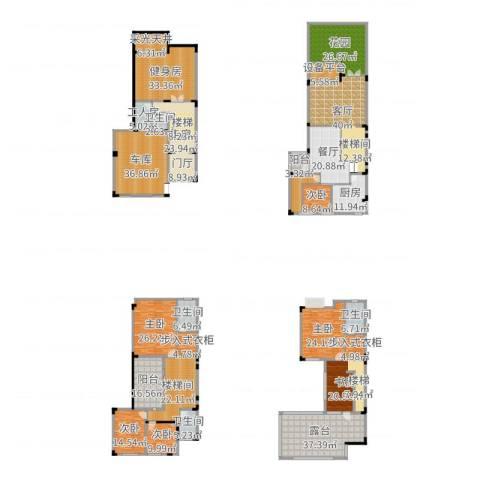 清华居6室2厅4卫1厨539.00㎡户型图