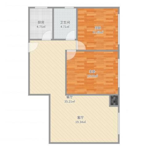 延平大厦-单栋-16022室1厅1卫1厨90.00㎡户型图