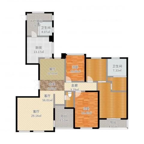 天安曼哈顿2室1厅2卫1厨167.60㎡户型图