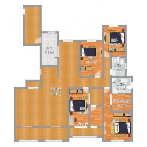 凤凰湖壹号4室2厅2卫1厨221.00㎡户型图
