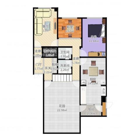 阳光绿景1室1厅1卫1厨109.00㎡户型图
