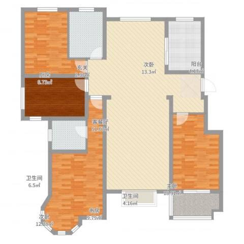 恒祥-龙泽城4室2厅2卫1厨159.00㎡户型图