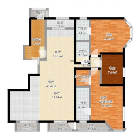 燕云台2室1厅3卫1厨147.00㎡户型图