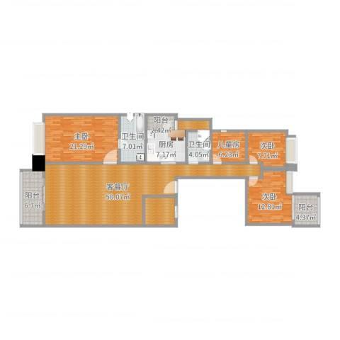 珊瑚湾畔1504室2厅2卫1厨171.00㎡户型图