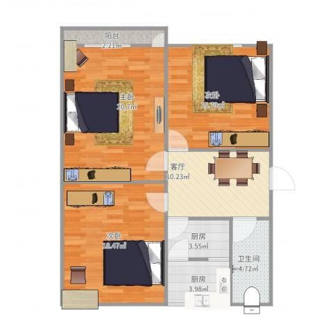 山大二宿舍8-1-5013室1厅1卫2厨107.00㎡户型图