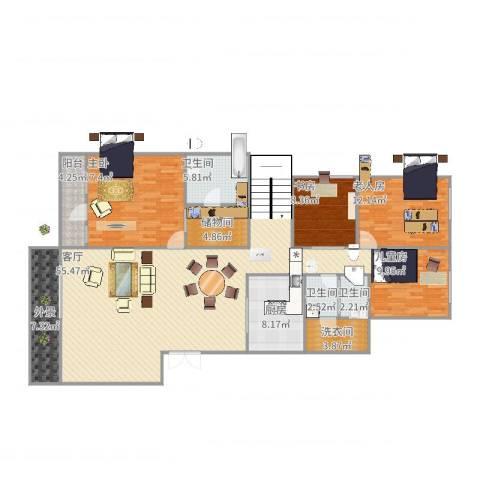 金科廊桥水乡别墅4室1厅3卫1厨191.00㎡户型图