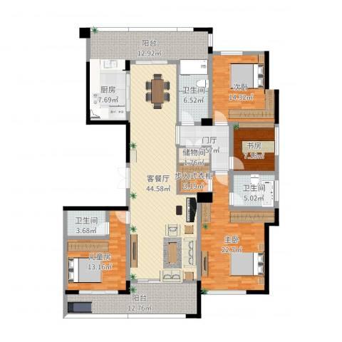 合肥绿城翡翠湖玫瑰园4室2厅3卫1厨201.00㎡户型图