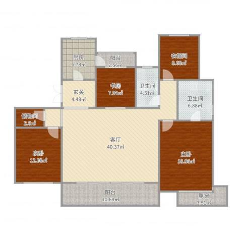 富力十号3室1厅2卫1厨165.00㎡户型图