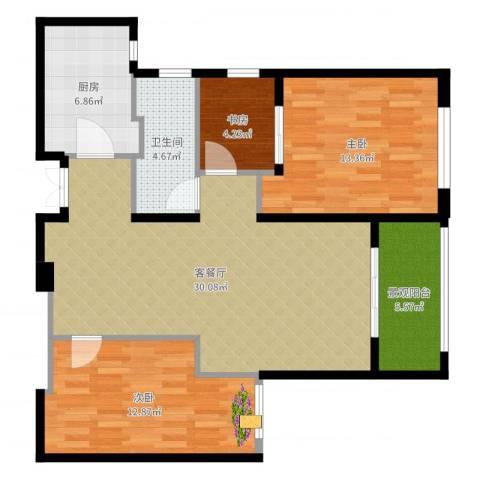 新地中心4室2厅1卫1厨97.00㎡户型图