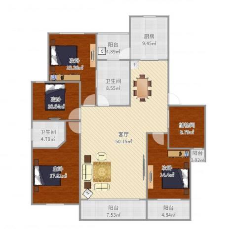 奥林清华世纪公园4室1厅2卫1厨198.00㎡户型图