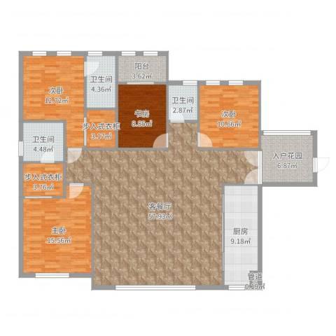 华尔顿12754室2厅3卫1厨180.00㎡户型图